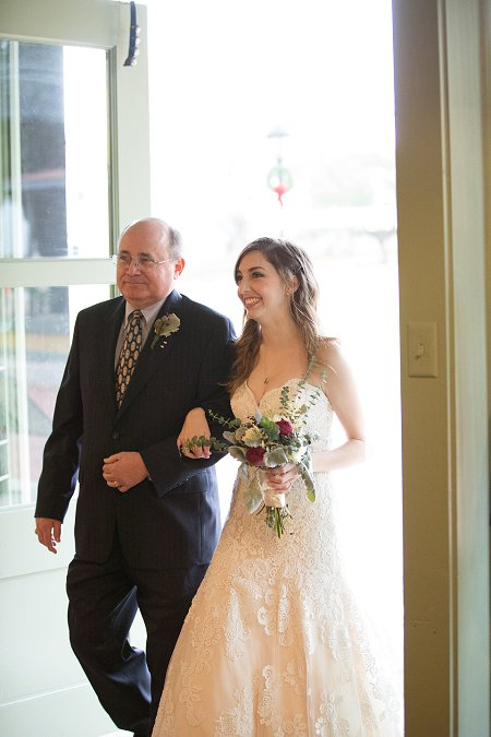 FOB walking daughter down aisle.