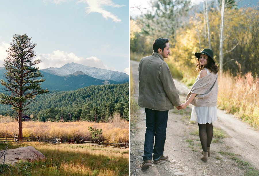 Rocky Mountain National Park engagement session.