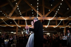 Father daughter dance at wedding reception at Southwind Hills.