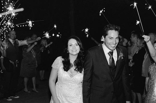 Sparkler exit by Dallas wedding photographer Jenny McCann.