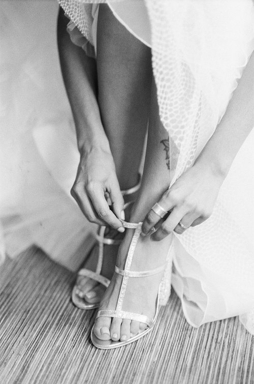 Dallas wedding photographer Jenny McCann captures bride getting ready.