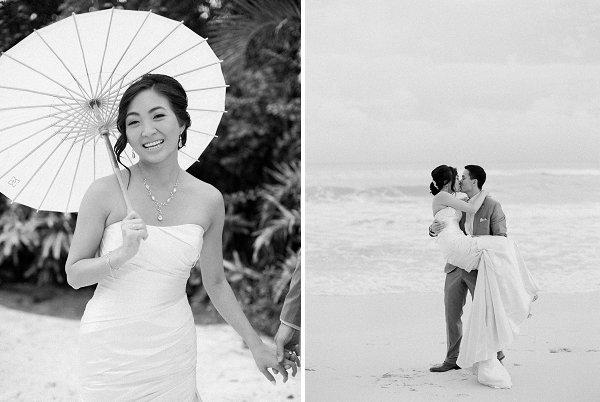 Cancun beach wedding at Asul resort.
